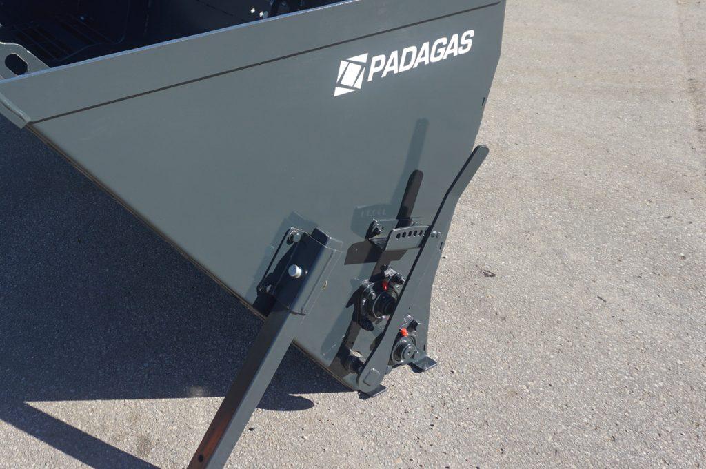 Sand spreader SP Padagas. Tractor sand spreader.