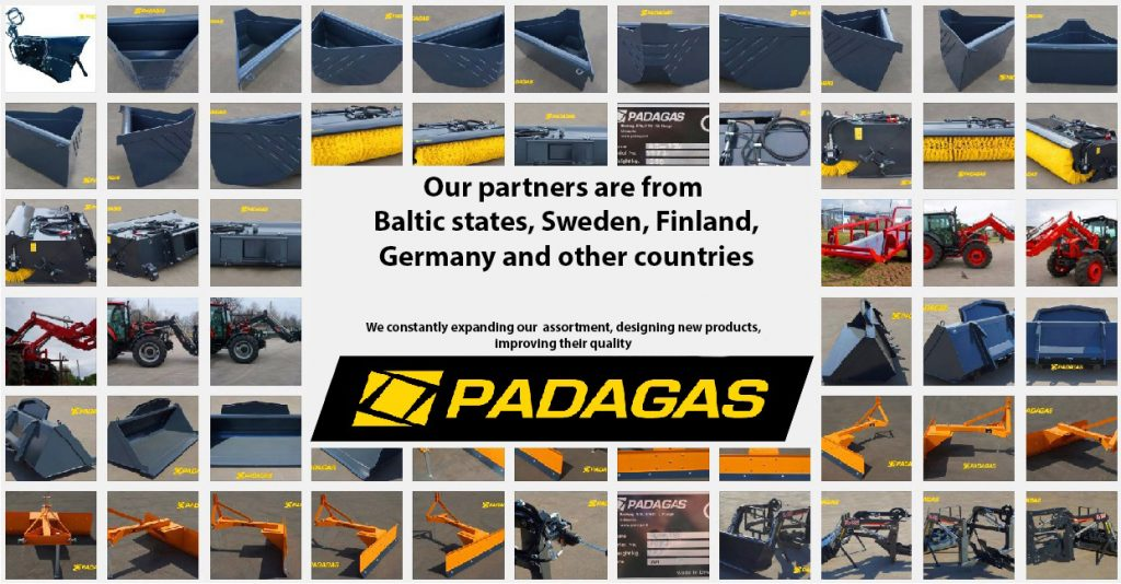 Padagas - professional attachments for tractors, loaders, telehandlers