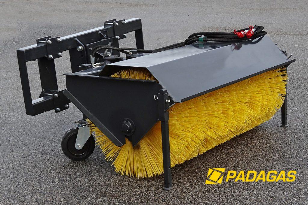 Street sweeper TK mounted back machanical steering.