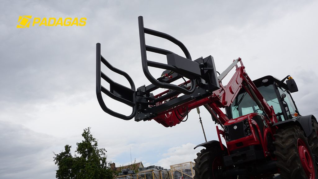 Bale handling grapple with hooks for big bags RR-SD