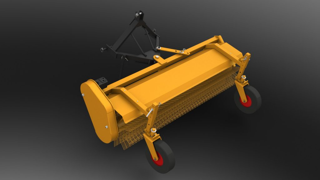 Sweeping road cleaning machine MK - for small tractors