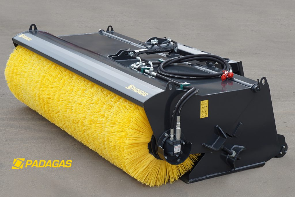 Sweeping machines BS with collection bunker for dust.