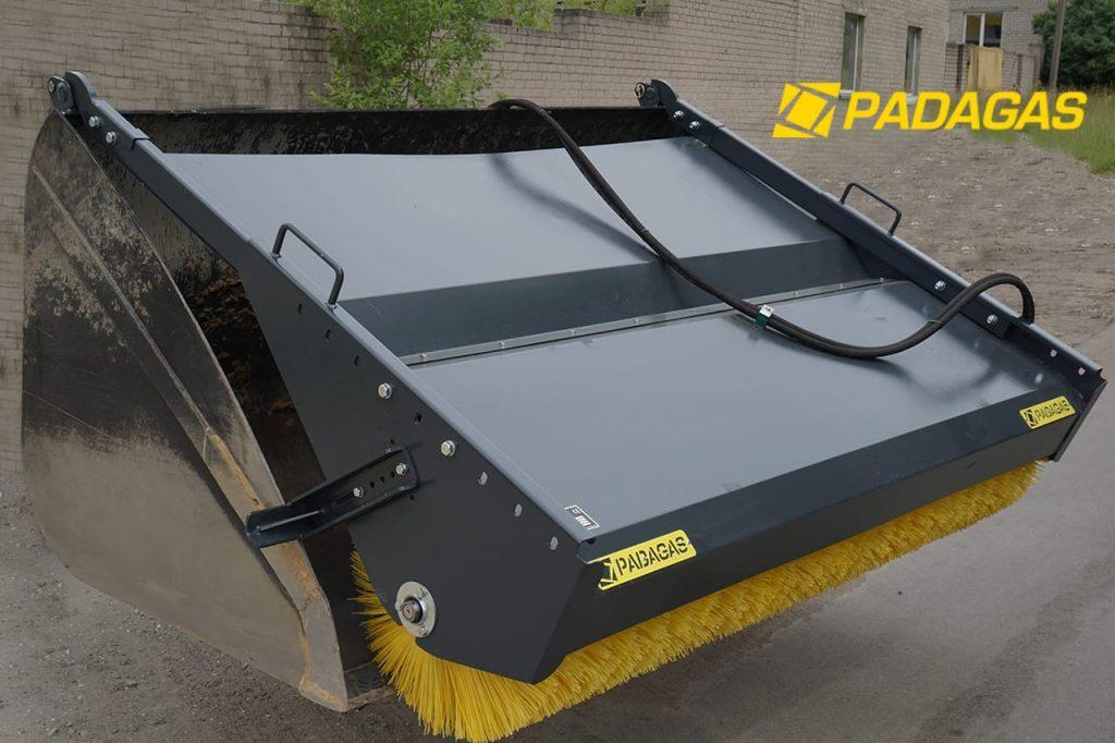 Bucket mounted sweeper machine KS-250 - PADAGAS